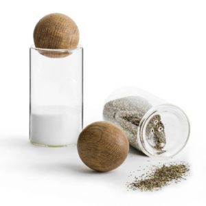 Glass salt and pepper
